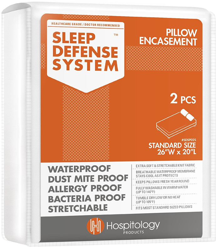 sleep defense system pillow encasement